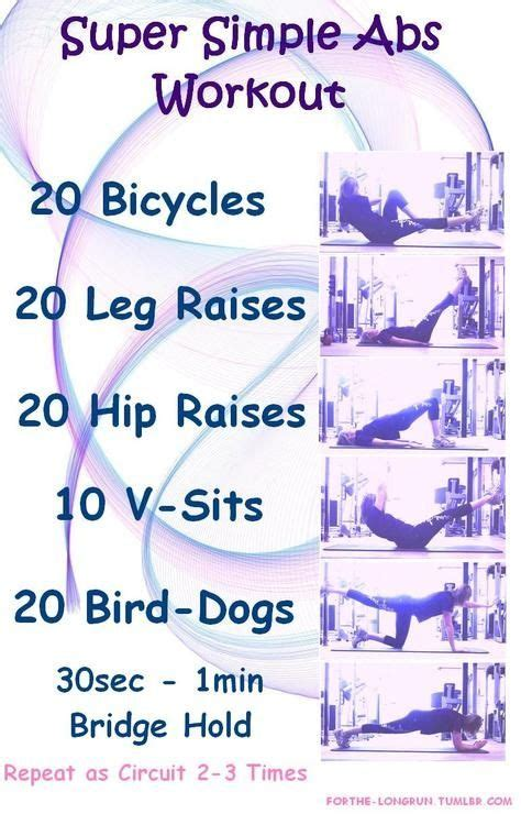 cardio before bed 25 best ideas about simple ab workout on pinterest rid