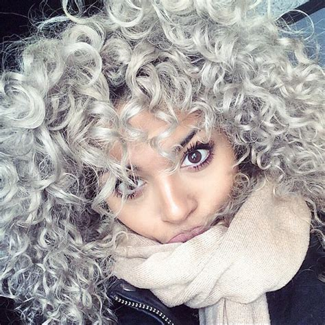 curly grey hairstyles 2015 6 hottest curly hair colors of 2015