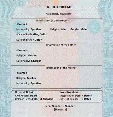 printable birth certificate template 7 birth certificate templates free exles sles