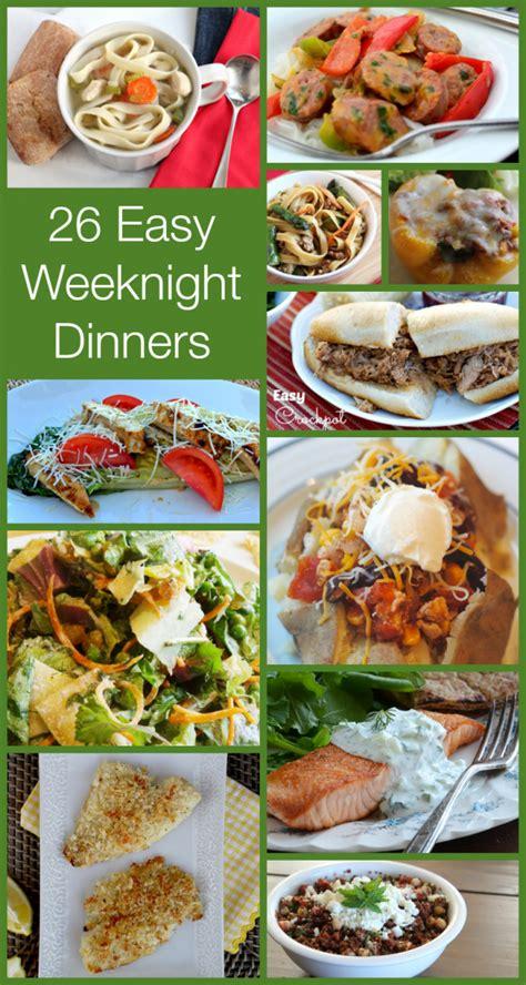 weeknight dinner easy weeknight dinners