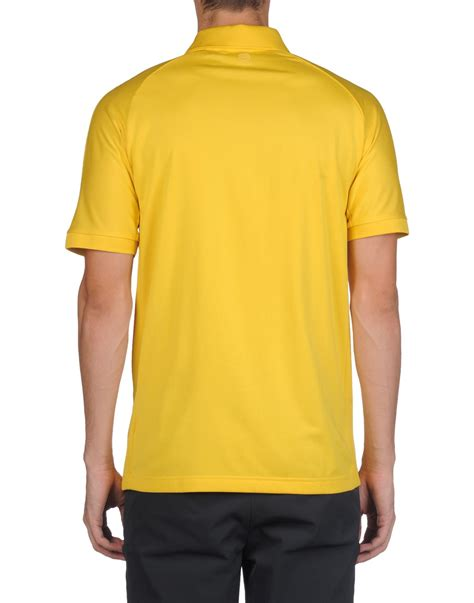polo shirt adidas by arvin cloth porsche design sport by adidas polo shirt in yellow for