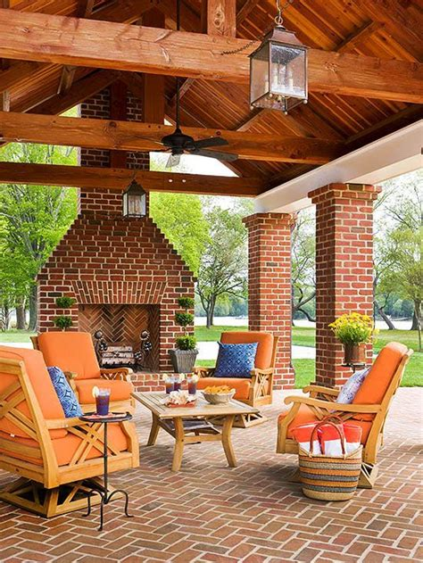 outdoor fireplace ideas covered patios fireplaces and backyards