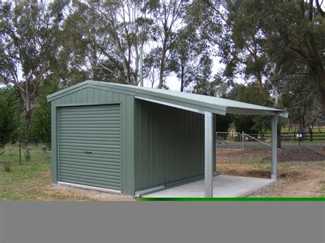 Lean To Garage by Garage With Garaport And Lean To Fair Dinkum Sheds