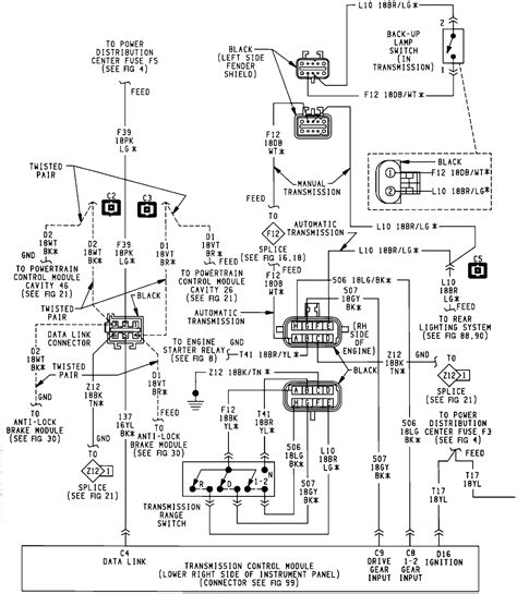 2004 jeep liberty transmission diagram free