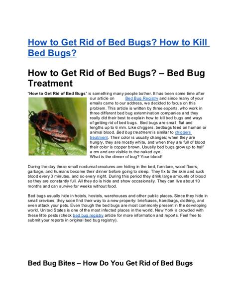 how to get rid of bed bugs how to kill bed bugs