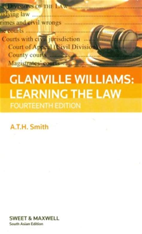 glanville williams learning the 0414028236 glanville williams learning the law 14th edition by a t