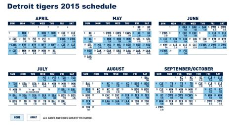 printable tigers schedule detroit tigers games schedule at comerica park
