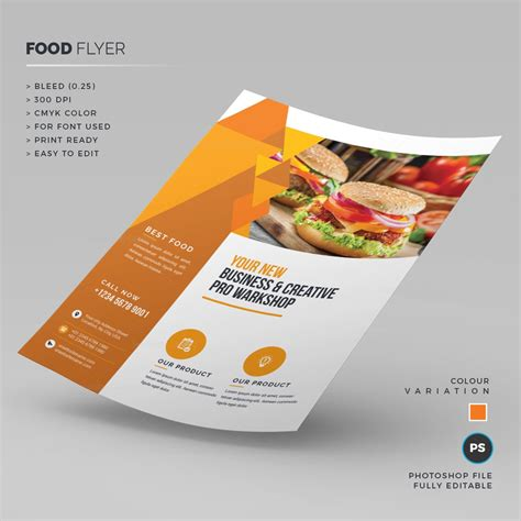 food templates fast food flyer template 000234 template catalog