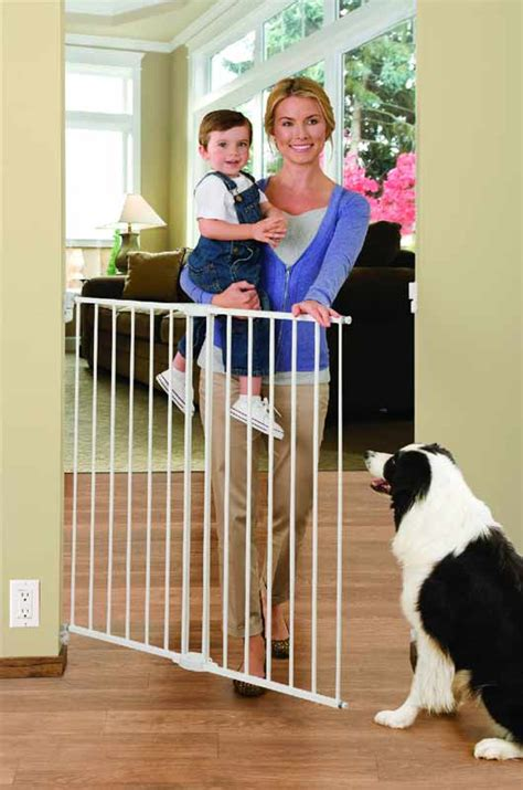 swing door baby gate extra tall supergate metal large door pet child dog gate