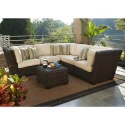 Conversation Set Patio Furniture Allen Roth Blaney 6 Patio Sectional Conversation Set Lowe S Canada