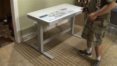 costco sit stand desk tresanti adjustable height motorized standing desk costco
