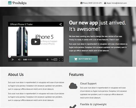 html5 product template produkta html5 responsive template creative beacon