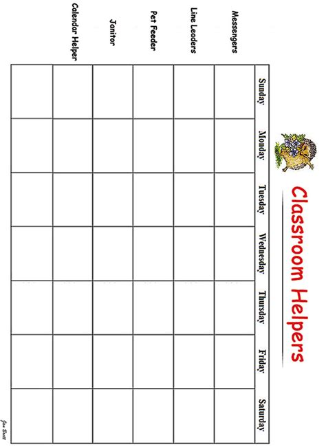 printable classroom job templates best photos of job chart template morning routine chart