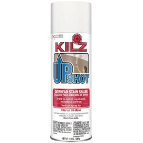 Kilz Bathroom Ceiling Paint by Kilz Upshot 10 Oz Overhead Based Interior Stain