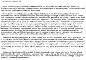 William Shakespeare Essay Topics by William Shakespeare Essay Topics