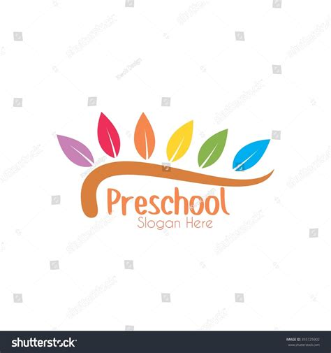 free kindergarten logo design playgroup preschool kindergarten logo template stock