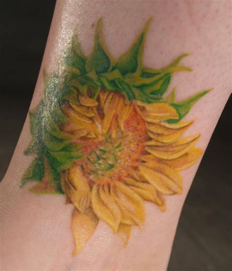 realistic sunflower tattoo sunflower by captainmonkeypants on deviantart