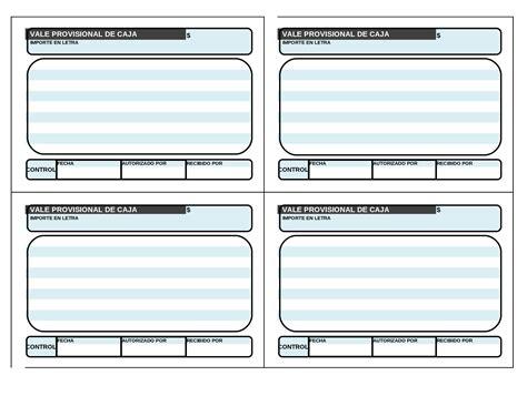 Vale Documents vale provisional de caja documents tips