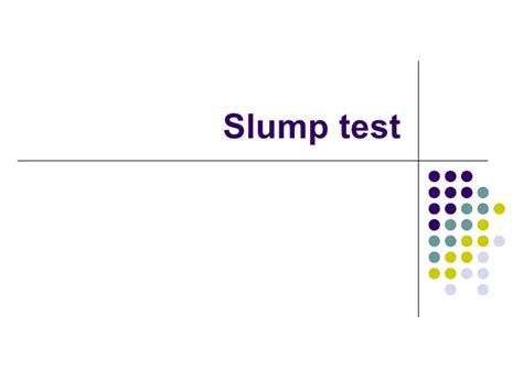 Slump Test concrete slump test
