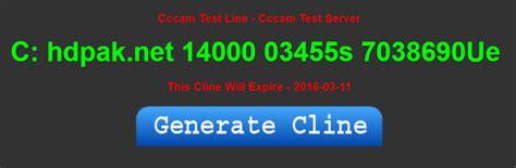 free cccam server c line test cccam test line 24h