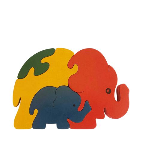 Puzzle Animal elephant wooden animal puzzle jigzoos australia jigzoos