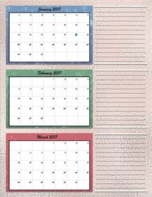 Space Planner free printable 2017 quarterly calendars 2 different designs