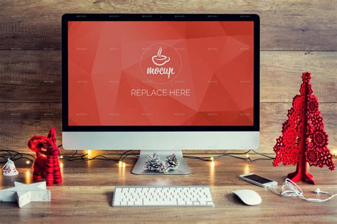 psd christmas mockups imac macbook ipad iphone  mocup graphicriver
