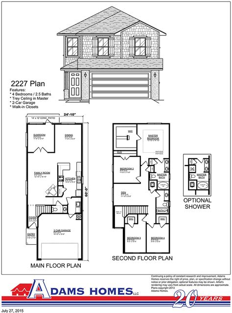 adams homes plans cardinal pointe adams homes