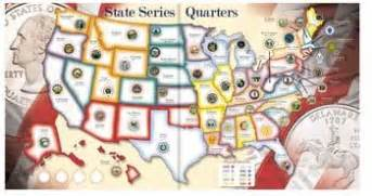 state quarters collector map coin collecting book and