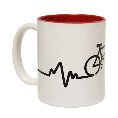 novelty coffee mugs bike pulse tea coffee mug novelty cycling cyclist bike
