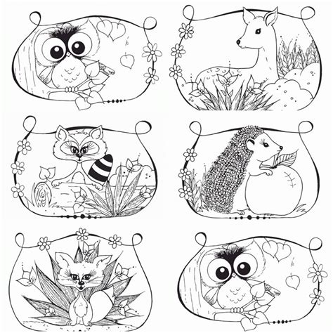 woodland animals an colouring book for dreaming and relaxing books free woodland creature coloring pages az coloring pages