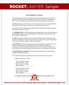 home health care templates home health care contract agreement template with sle