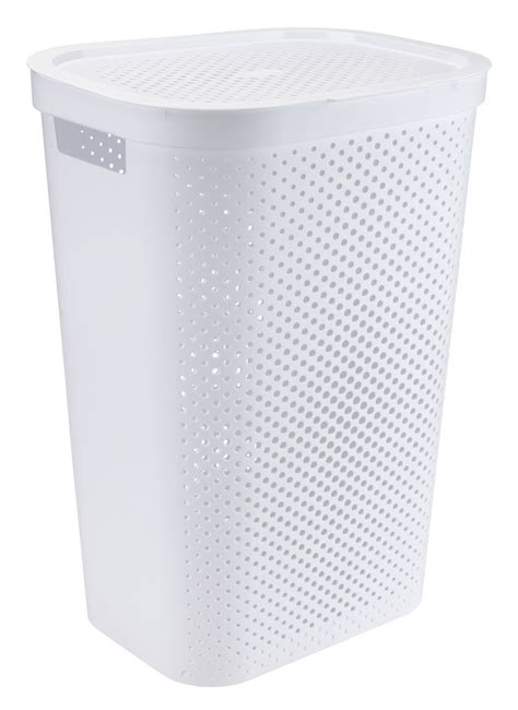 laundry plastic laundry basket infinity plastic white jysk