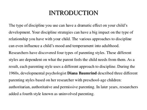 parenting styles research paper diana baumrind research papers writingfixya web fc2