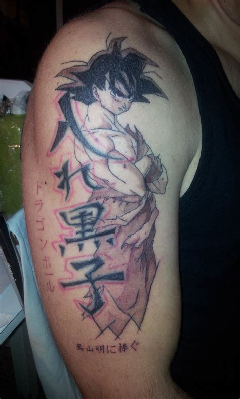 dbz tattoos goku by curi222 on deviantart