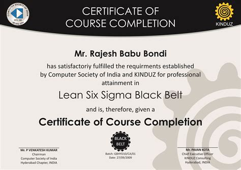 28 six sigma black belt certificate template lean