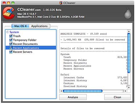 ccleaner beta do you like ccleaner for windows get the mac beta