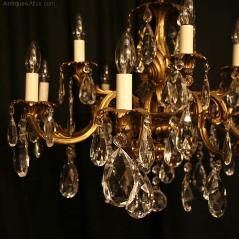 12 Bulb Chandelier Antiques Atlas An Italian Gilded 12 Light Antique Chandelier