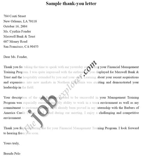thank you letter to recruiter 10 free sample example format