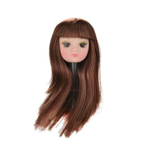 fashion doll heads 1pcs fashion big eye doll golden hair diy accessories
