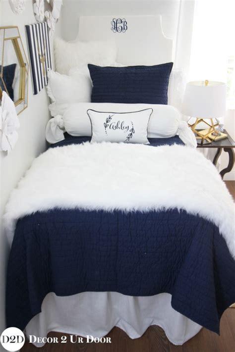 navy and white bedding sets navy white fur designer bedding set
