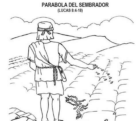 imagenes cristianas para colorear fotos de la parabola sembrador el sembrador dibujos y
