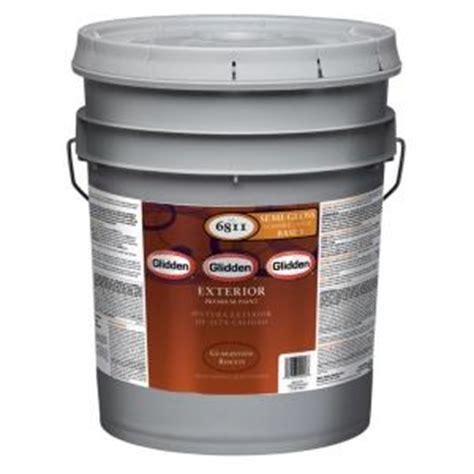 Home Depot 5 Gallon Interior Paint by Glidden Premium 5 Gal Semi Gloss Exterior Paint