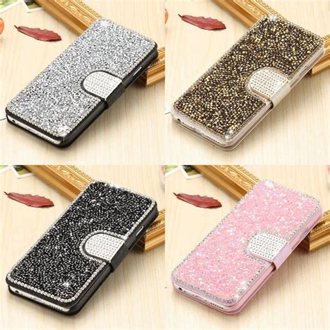 Flip Cover Flipshel Swarosky Bling Samsung Galaxy 2 for iphone 8 gold bling sand leather for samsung