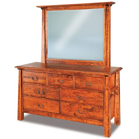 dresser with optional mirror in solid wood chest of