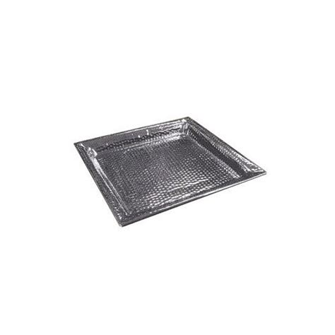 restaurant dining room leftover stainless steel serving american metalcraft hmsq16 16 in sq hammered tray