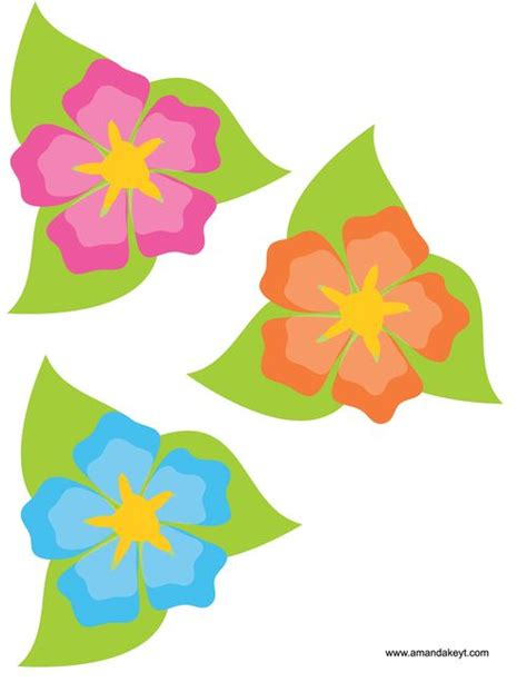 ukuleles from mickey friends luau inspired printable flowers diy luau photobooth props or backdrop decor
