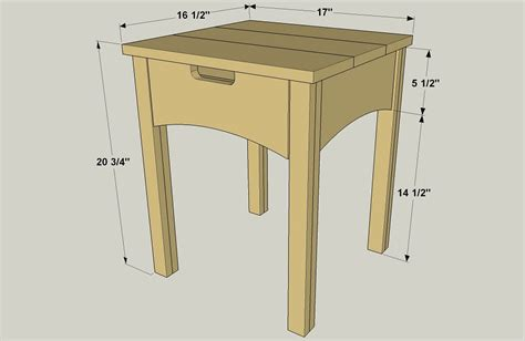 1 drawer nightstand plans nightstand with drawer buildsomething