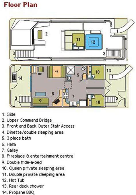 houseboat floor plans 44 foot mirage houseboat