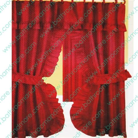 shower curtains with red in them double swag fabric shower curtain 12 matching hooks 2 tie